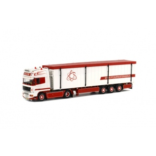 арт. 01-1354 Масштабная модель DAF XF 105 Super Space Cab - Cargo Floor Trailer (3 axle) 1:50
