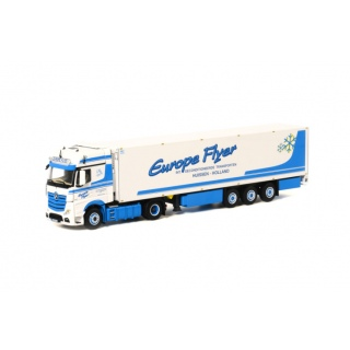 арт. 02-1450 Масштабная модель Europe Flyer Mercedes-Benz Actros Giga Space - Reefer Trailer Thermoking (3 axle) 1:50