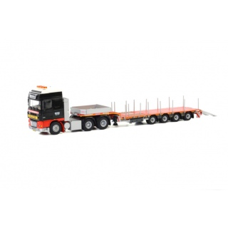 арт. 07-1022 Масштабная модель Multiwheels DAF XF 95 Super Space Cab - Nooteboom Low Loader Semi (4 axle) 1:50